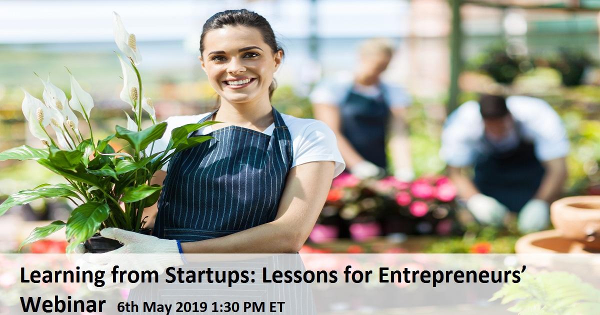 Learning from Startups: Lessons for Entrepreneurs' Webinar