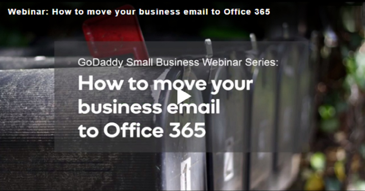 How to move your business email to Office 365