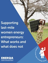 Supporting last-mile women energy entrepreneurs: What works and what does not
