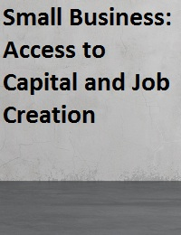 Small Business: Access to Capital and Job Creation
