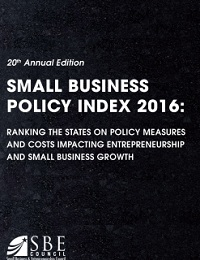 Small business policy index 2016