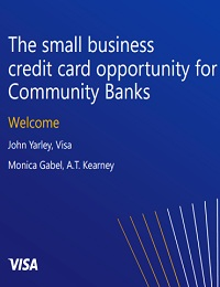 The small business credit card opportunity for Community Banks