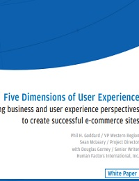 Five Dimensions of User Experience Balancing business and user experience perspectives to create successful e-commerce sites