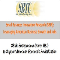 SBIR: Entrepreneur-Driven R&D to Support American Economic Revitalization