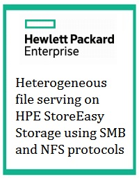 Heterogeneous file serving on HPE StoreEasy Storage using SMB and NFS protocols