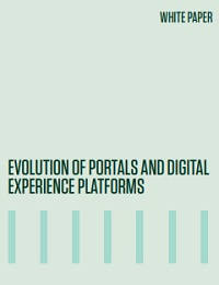 Evolution of portals and digital experience platforms