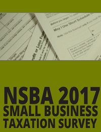 NSBA 2017 Small business taxation survey