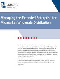 managing the extended enterprise for midmarket wholesale distribution