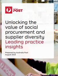 Unlocking the value of social procurement and supplier diversity Leading practice insights