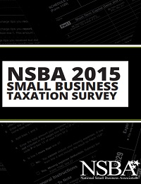 NSBA 2015 small business taxation survey