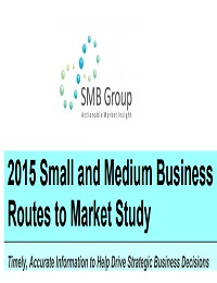 2015 Small and Medium Business Routes to Market Study