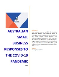 AUSTRALIAN SMALL BUSINESS RESPONSES TO THE COVID-19 PANDEMIC